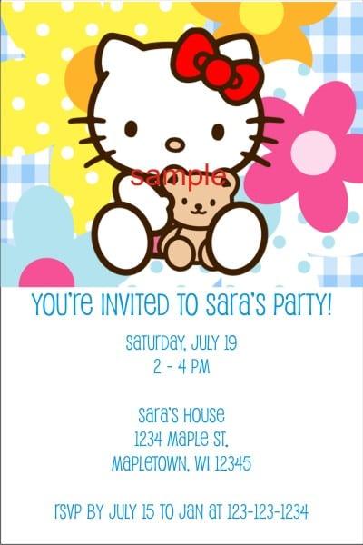 Free Hello Kitty Slumber Party Invitation Templates