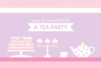 Free High Tea Party Invitation Templates