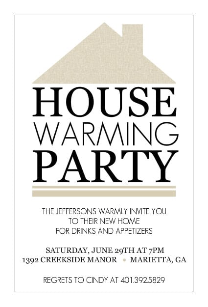 Free Housewarming Party Invitation Cards