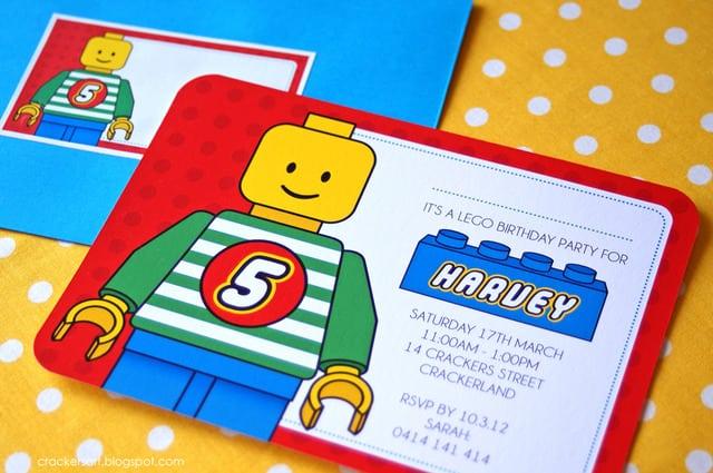 Free Lego Invitation Birthday