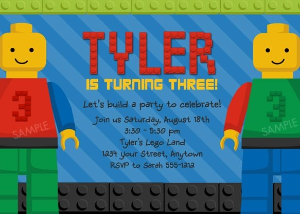 Free Lego Party Invitation Templates For Word
