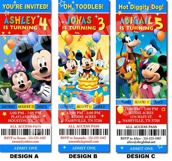 Free Mickey Mouse Birthday Invitation Maker