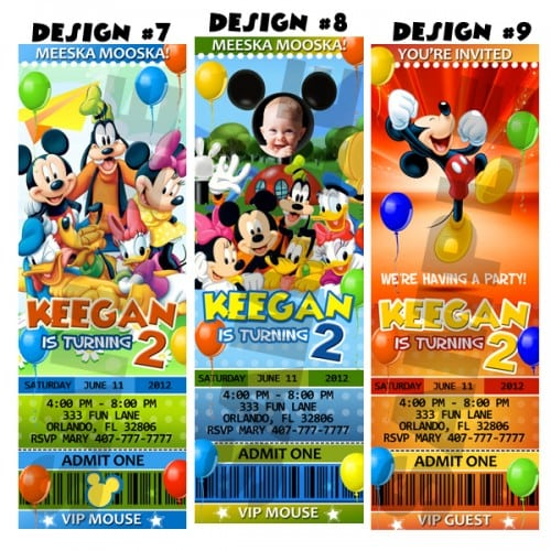 Free Mickey Mouse Ticket Invitation Template