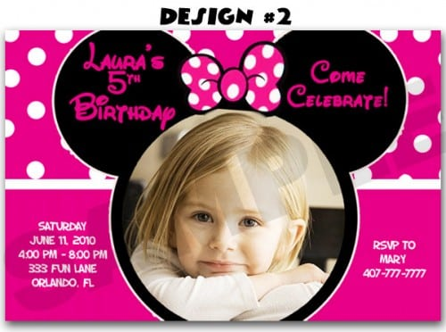 Free Minnie Mouse Invitation Maker
