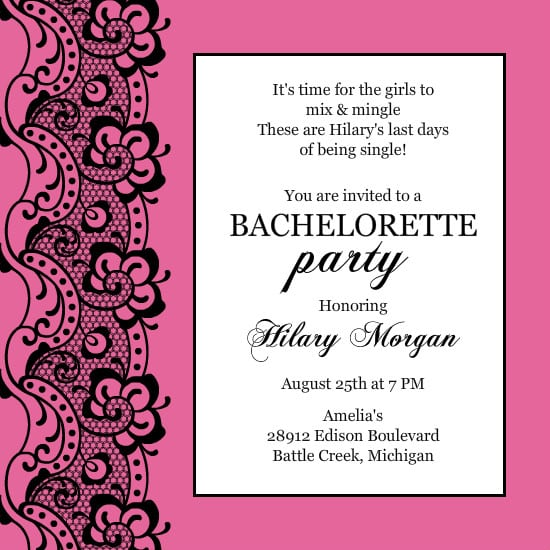 Free Online Bachelorette Party Invitations Templates