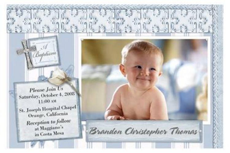 Free Online Baptism Invitation Templates