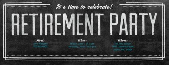 Free Online Invitations For Retirement Party