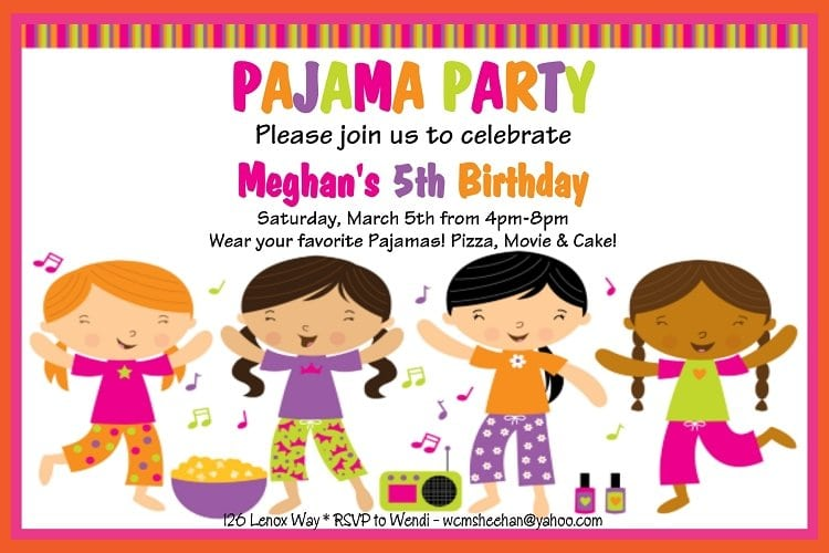 Free Pagama Party Invitations