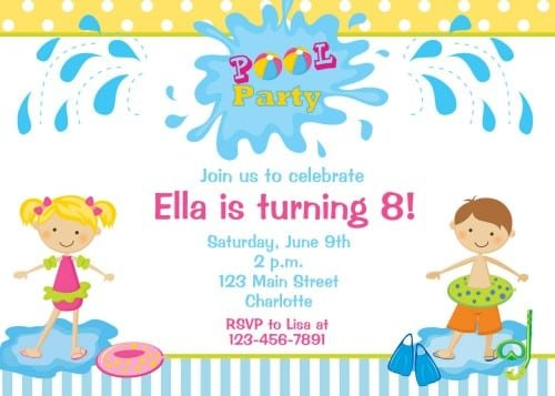 Free Party Invitation Templates For Little Girls