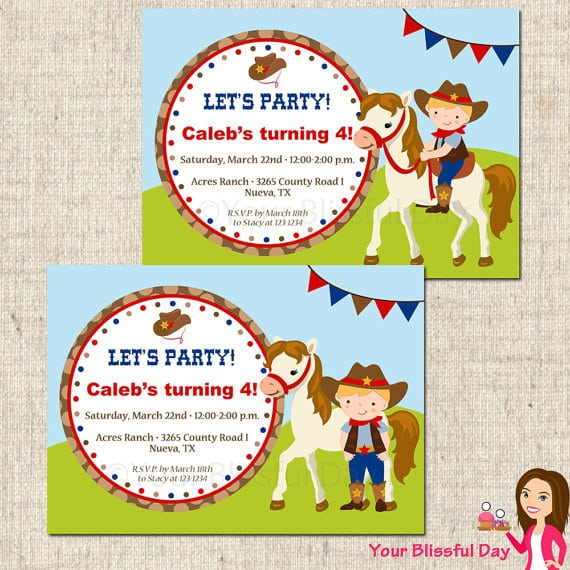 Free Party Templates Invitations Horse