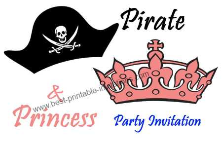 Free Pirate And Princess Invitationsfree Printable Pirate And Princess Invitations