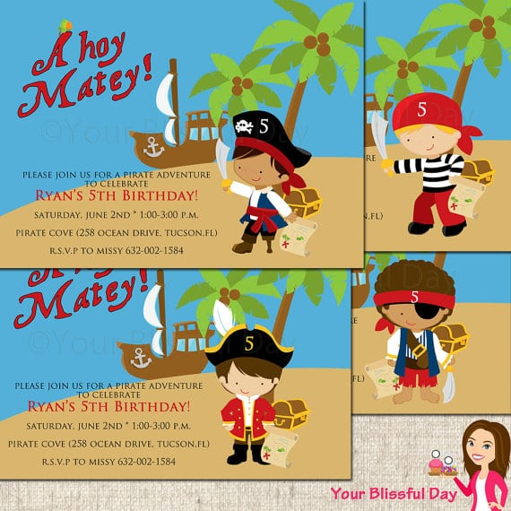 Free Pirate Party Invitations Printable