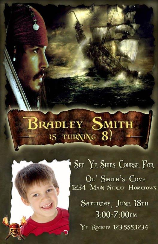 Free Pirates Of The Caribbean Invitations