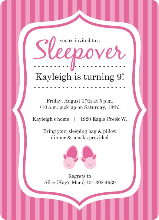 Slumber Party Invitations gangcraftnet – Free Printable Slumber Party Invitation Templates