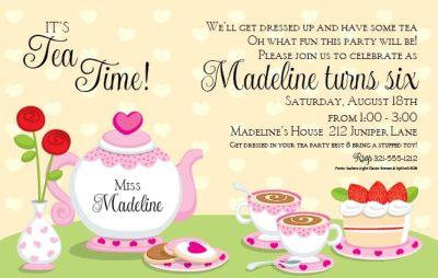 princess tea party invitation template free  ctsfashion, Party invitations