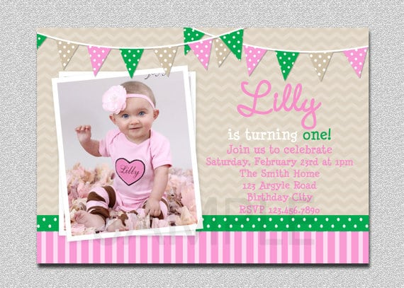Free Printable 1st Birthday Invitations Girl
