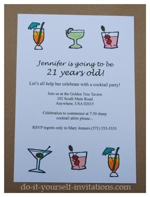 Free Printable 21st Birthday Party Invitation Templates