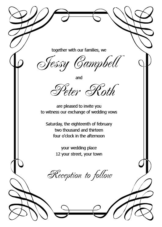 Freeprintableweddinginvitationtemplatespng - Wedding invitation templates: free printable wedding templates for invitations