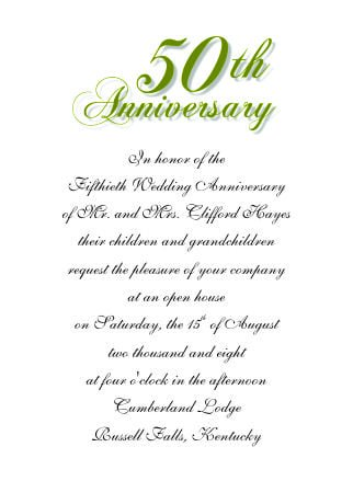 Free Printable 50th Anniversary Invitation Templates