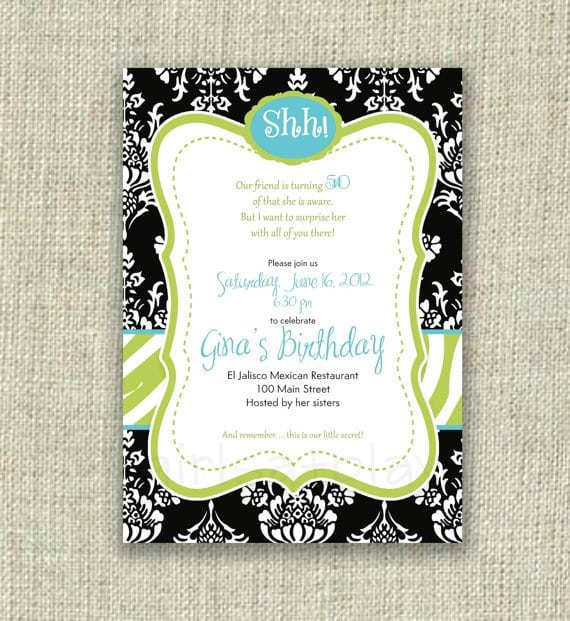 Free Printable 50th Surprise Birthday Invitations