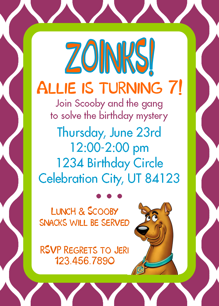 Free Printable 7th Birthday Invitation