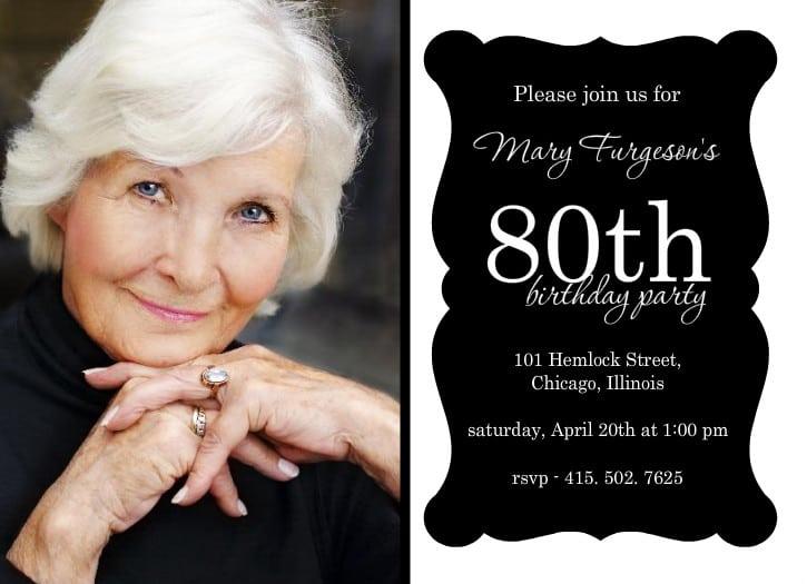 Printable 80th birthday invitations templates free printable 80th birthday invitations templates filmwisefo Images