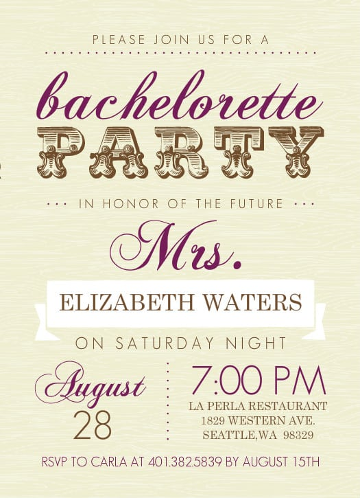 Free Printable Bachelorette Party Invitation Templates