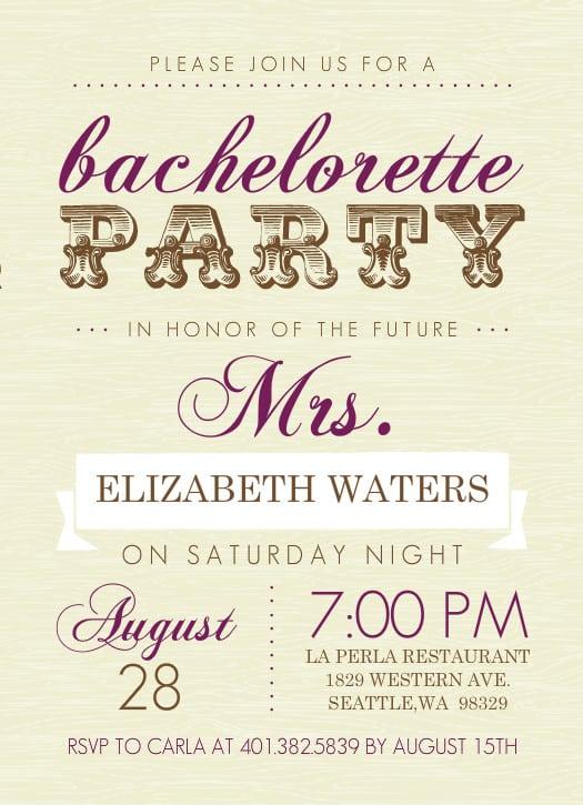 Free Printable Bachelorette Party Invitations Isla Nuevodiario Co