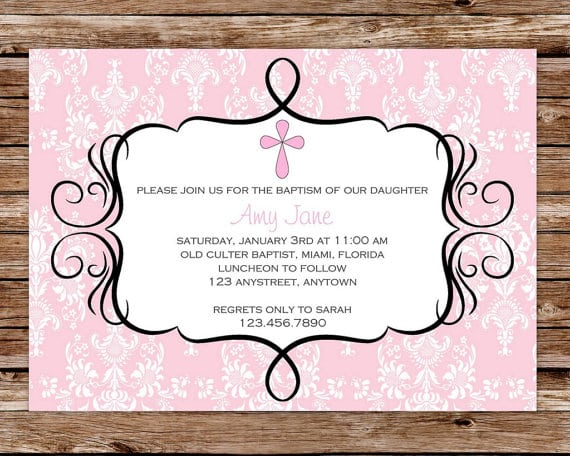 Free Printable Baptism Invitations For Girls