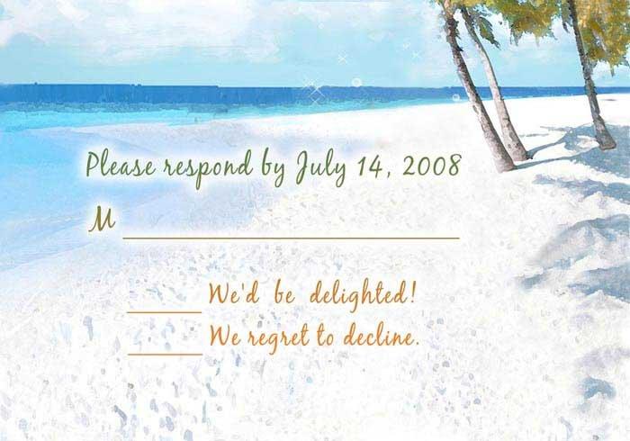Free Printable Beach Wedding Invitations