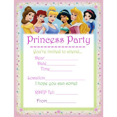 Free Printable Birthday Invitations Princess