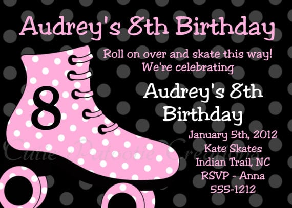 Free Electronic Birthday Invitations Roller Skating