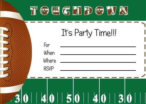 Free Printable Boys Sports Birthday Invitations