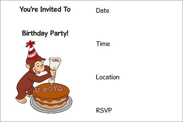 Free Printable Childrens Birthday Invites