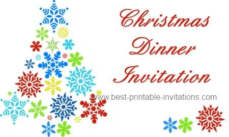 Free Printable Christmas Dinner Invitation Templates 2