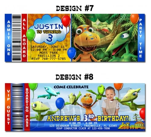 Free Printable Dinosaur Train Birthday Invitations