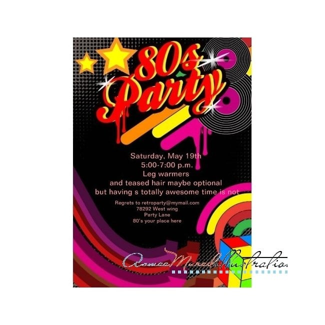 Free Printable Disco Party Invitations Templates