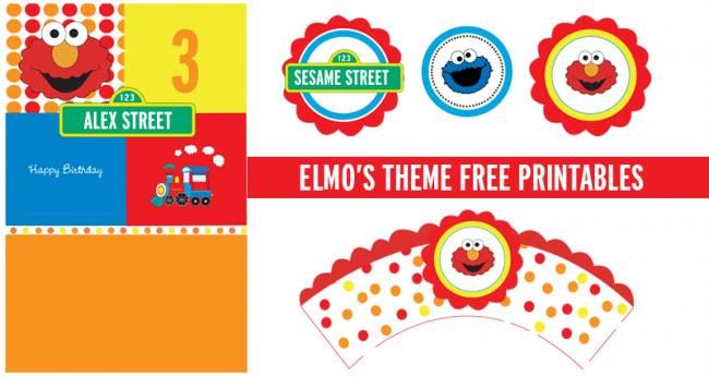 Free Elmo Birthday Invitation Template