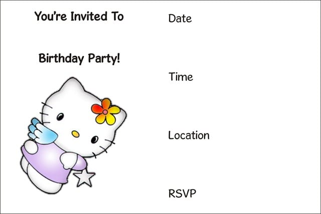 Free Printable Hello Kitty Birthday Invitations For Kids