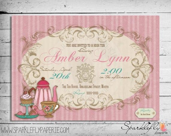 Free Printable Invitations Afternoon Tea