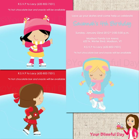 Free Printable Invitations Ice Skating Party