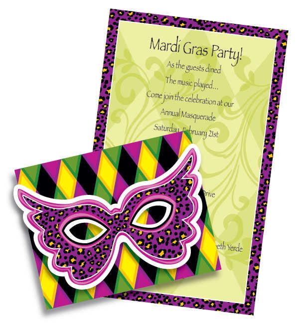 Free Printable Mardi Gras Birthday Invitations