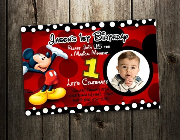 Printable mickey mouse 1st birthday invitations free printable mickey mouse 1st birthday invitations filmwisefo Images