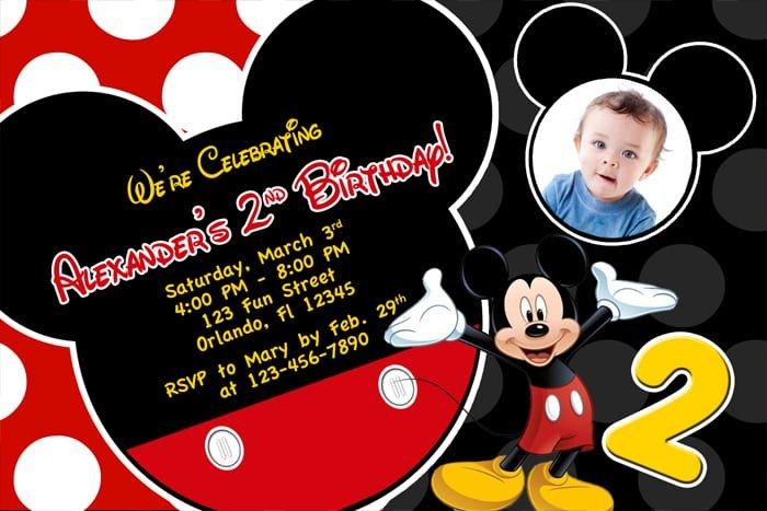 free printable birthday invitations mickey mouse