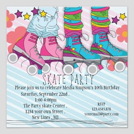Free Printable Roller Skating Invitations – Free Printable Roller Skating Party Invitations