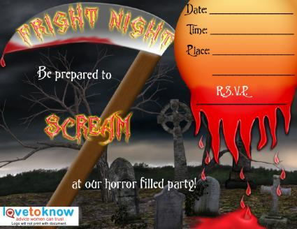 Free Printable Scary Party Invitations