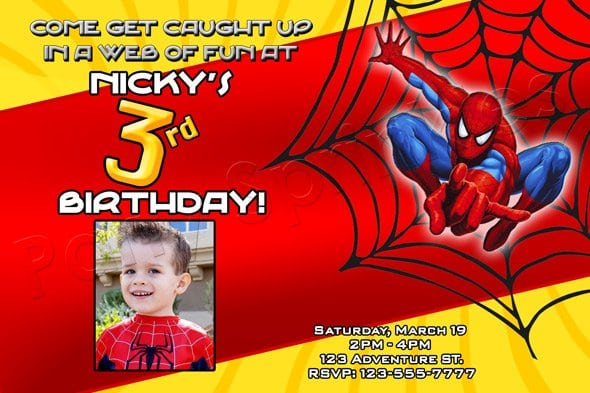 Free Printable Spiderman Birthday Invitations For Boys