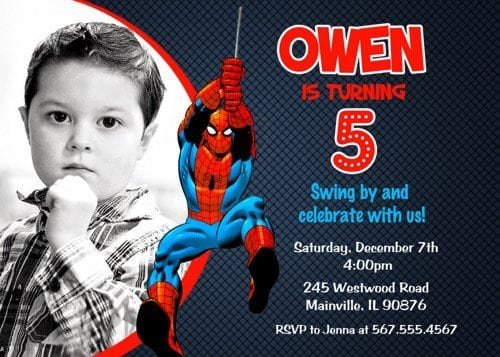 Free Printable Spiderman Invitations Birthday Party