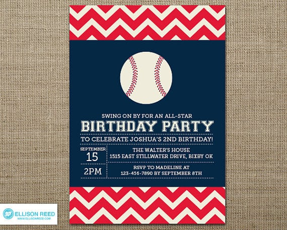 Free Printable Sports Themed Birthday Invitations