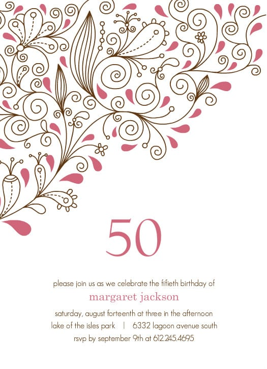 Free Printable Surprise 50th Birthday Invitations Templates